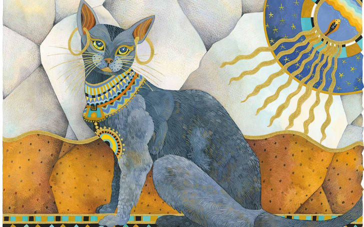 Bastet was depicted as a woman with the head of a lioness, when the cats were kept as pets she appeared with the head of a cat.