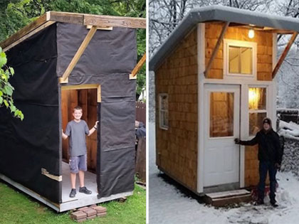 At The Age Of 13, Luke Built Himself A House That Left Everyone Shocked