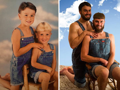 Hilarious People Who Flawlessly Recreated Their Childhood Photos